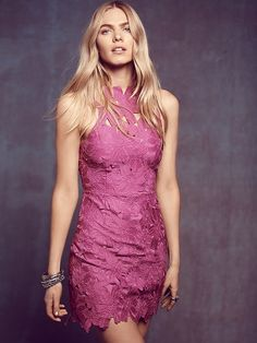 Saylor Jessa Lace Dress