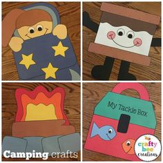 These are some of the cutest camping crafts that kids can do in the summer time or for a camping theme in a classroom. The patterns are very easy to follow.