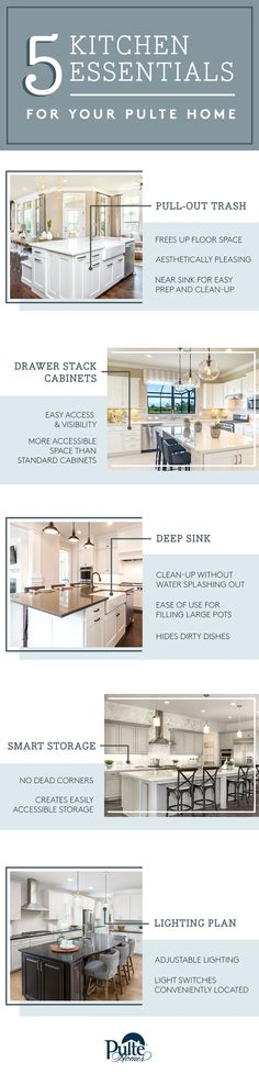 Designed with innovation in mind. From smart storage to deep sinks to beautiful lighting, Pulte kitchens deliver form, function and easy maintenance. Click to learn more. | Pulte Homes