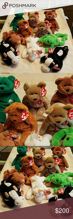 d637b7efb77 TY BEANIE BABIES TY BEANIE BABIES 10 WITH TAGS PRE-OWNED TY BEANIE BABIES  Other