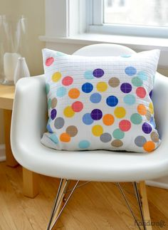Confetti Pillow.... try on a purse??