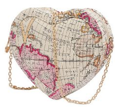 Buenocn 2015 Women Pu Leather World Map Pattern Handbag Vintage Heart-shaped Shoulder Bag Women Messenger Bags Clutch Ls5550 (white). PU fashion women shoulder bag. Dimension:19cm*18cm*5cm. Made in China. Little leather smell is normal.Putting it outside for few days,the smell will disappear. Please allow little color difference due to different camera or lightenvironment.