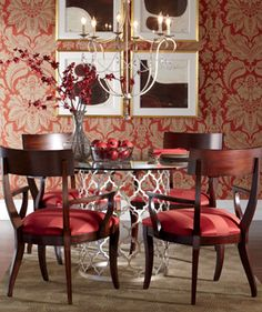 traditional (victorian, colonial) red dining roomkeita turner