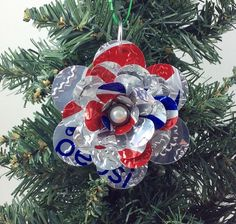 Eating regimen Pepsi Flower Christmas Decoration Recycled Soda by jill Flower Ornaments, Snowflake Ornaments, Christmas Ornaments, Diet Pepsi, Pepsi Cola, Recycle Cans, Recycling, Pop Can Art, Pop Cans