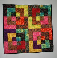 Bento Box Quilt Wall Hanging   by mandikoss Scrappy Quilts, Mini Quilts, Baby Quilts, Santa Ornaments, Quilted Wall Hangings, Quilting Projects, Quilting Ideas, Quilt Blocks, Quilt Patterns