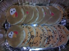 Turkey cookies for Thanksgiving.