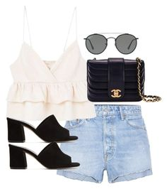 """""""Untitled #3725"""" by theaverageauburn on Polyvore featuring GRLFRND, MANGO, Maryam Nassir Zadeh, Chanel and Ray-Ban"""