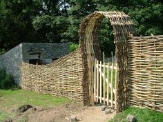 woven fence + gate...hmmm, this has me thinking