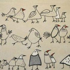 Birds Matt Oilcloth