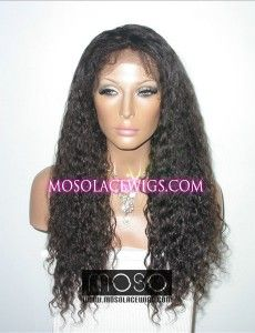 "20"" Curly wave #1b lace front Wigs human hair wigs With Weft Back, Curly wave, Off Black - mosolacewigs.com  20"" Curly wave #1b lace front Wigs human hair wigs With Weft Back, Curly wave, Off Black"