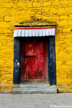 Red Door in Lhasa, Tibet, China