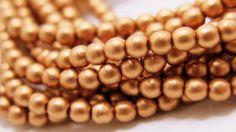 Czech Beads 4mm Druks Copper Czech Beads 50 beads per by ZARDENIA