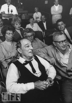 Buster with Eleanor and Lucy sitting behind him watching Stan Laurel tribute