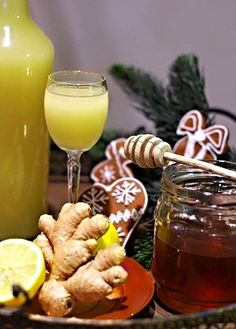 Zázvorový likér II. Nordic Interior, Turmeric, Smoothies, Destiel, Beverages, Food And Drink, Herbs, Detox, Health