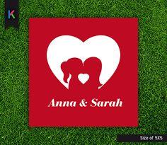 Heart wedding card Gay
