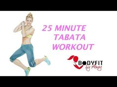 25-Minute At-Home Tabata HIIT Workout | Tone and Tighten