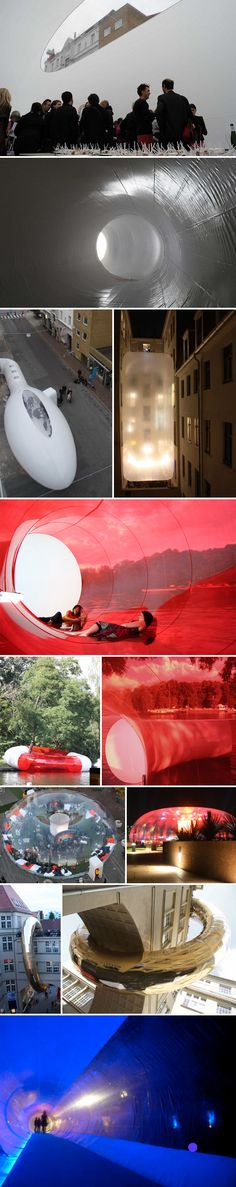 Plastique Fantastique creates temporary plastic bubble architecture for multiple uses and in many shapes and styles.