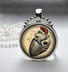 Round Glass Bezel Pendant Anatomical Pendant by IncrediblyHip, $8.00