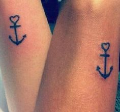 Best friends, Matching tattoos/I want to get this one for us Cousin Tattoos, Bff Tattoos, Mini Tattoos, Friend Tattoos Small, Anchor Tattoos, Future Tattoos, Sleeve Tattoos, Small Tattoos, Tattoo Quotes
