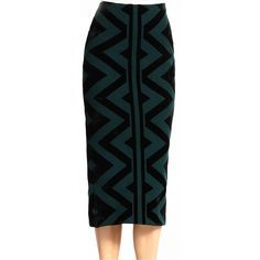 Knit Blanket Pencil Skirt via @WhoWhatWear