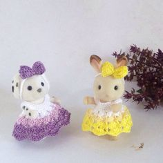 Calico Critters/ Sylvanian Families Crochet Clothes/ Outfit for Sister Made to Order #4002 by AmigurumiByMe on Etsy https://www.etsy.com/listing/262213287/calico-critters-sylvanian-families