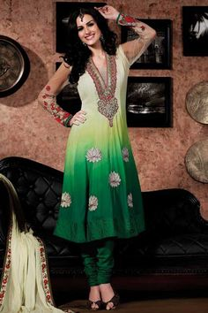 Designer Green Anarkali Suit  Check out this page now :-http://www.ethnicwholesaler.com/salwar-kameez/anarkali-salwar-kameez