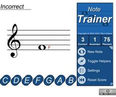 Use this online free interactive Note Trainer created by Ricci Adams, to test your music reading skill now!  A fun music training tools for all ages.
