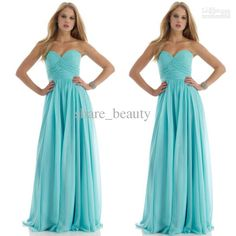 Wholesale Bridesmaid Dresses - Buy New Year Hot Sale 20% Off 2014 New A Line Strapless Floor Length Fold Light Blue Bridesmaid Dresses, $57.6   DHgate