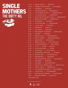 Single Mothers are ripping through North America with pals, The Dirty Nil. Minneapolis, Live Music, North America, Mothers