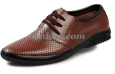 Summer Cool Breathable Men Leather Shoes