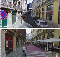 elevação de rua