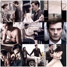 Jamie Dornan and Dakota Johnson Fifty shades of grey movie stills