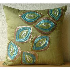 Peacock Abstract  Euro Sham Covers  26x26 Inches by TheHomeCentric