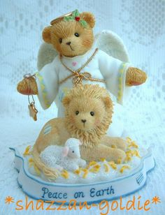 Cherished Teddies Tessa with Lion & Lamb