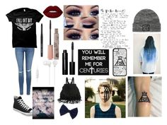 """""""sitting in class"""" by imdivergent123 ❤ liked on Polyvore featuring Topshop, Converse, Lime Crime, Paul & Joe, Bobbi Brown Cosmetics and Sony"""