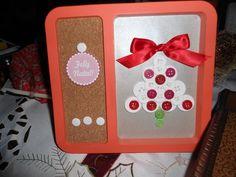 Quadro de natal com botões!