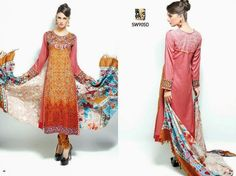 New And Stylish Winter Clothes For Girls 2014-2015 By Shaista |  WFwomen dress for girls,  #winter fashion 2014.,  #embroidered long shirts  shaista winter collection