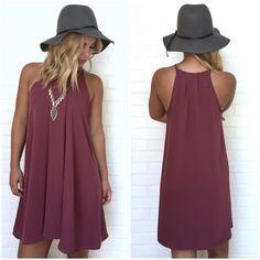 Design Of A Decade Shift Dress In Wine