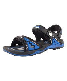 Blue Mesh-Accent Sandal - Men