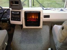 Hit the Road with Electric Fireplaces #RVs #motorhomes | On the ...