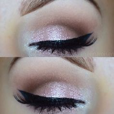 Beautiful look using Younique shimmer eye pigments!