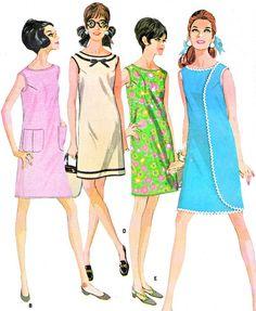 1960s Dress Pattern McCalls 9118 Mod Wraparounder Dress Womens Vintage Sewing Pattern Bust 39 Uncut on Etsy, $25.00