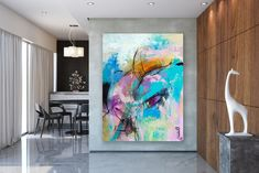 Items similar to Large Abstract Canvas Art,Extra Large Abstract Canvas Art,painting on canvas,modern abstract,extra large wall art on Etsy Bright Paintings, Unique Paintings, Art Paintings, Abstract Paintings, Large Abstract Wall Art, Large Painting, Textured Painting, Painting Art, Oversized Wall Decor