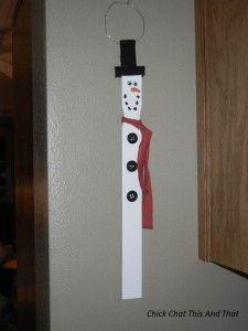 Paint Stick Snowman - To Cute!!