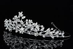 Bridal Wedding Crystal Rhinestone Prom Crown Tiara V612 | eBay