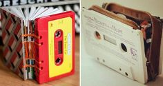 15 Cosas geniales que puedes hacer con tus viejos cassette Vhs Crafts, Cassette Tape Crafts, Cute Gifts, Diy Gifts, Design Case, Recycled Art, Sustainable Design, Diy Videos, Diy For Kids