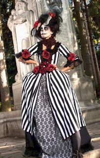 stripped victorian dress - Google Search