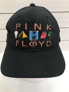 7ab239b84e Vintage PINK FLOYD Multi Music Record Logo Hat Youngan Hat David Gilmore  Vintage Pink