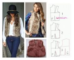 I would want it to be fairly short with thinner front panels, more like the one in the left-hand picture. Blouse Patterns, Clothing Patterns, Sewing Patterns, Sewing Coat, Sewing Clothes, Fashion Sewing, Diy Fashion, Fashion Project, Diy Clothing