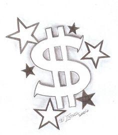 ... Dollar with Stars by 2Face-Tattoo.deviantart.com on @DeviantArt